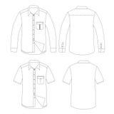 Reeks van de vector van het Mensenoverhemd Stock Afbeeldingen