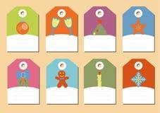 Reeks van de vector van Kerstmispictogrammen Royalty-vrije Stock Foto's