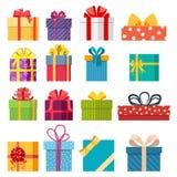 Reeks van de vectordoos van de Kerstmisgift Stock Foto