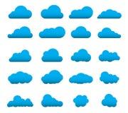 Reeks 20 van de wolkenvorm Royalty-vrije Illustratie