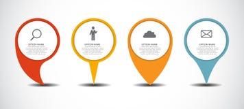 Reeks van de Zaken van Infographic van Cirkelwijzers Stock Foto