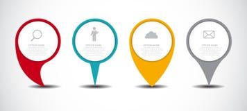 Reeks van de Zaken van Infographic van Cirkelwijzers vector illustratie