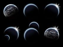 Reeks van de zonsopgang van de Planeet royalty-vrije illustratie