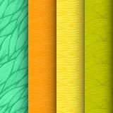 Reeks van 4 decoratieve golven naadloze patronen Royalty-vrije Stock Afbeelding