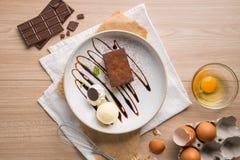 Reeks van Dessert royalty-vrije stock afbeelding
