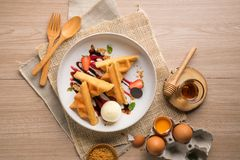 Reeks van Dessert stock foto's