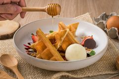 Reeks van Dessert stock fotografie