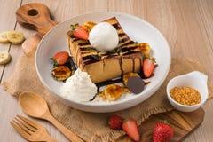 Reeks van Dessert stock afbeelding