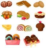 Reeks van dessert Stock Foto