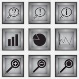 Reeks van 9 diagrampictogrammen Stock Fotografie
