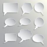 Reeks van dialogengrijs Stock Foto
