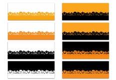 Reeks van 8 die Halloween-de Chronologiedekking van Themafacebook op Wit wordt geïsoleerd vector illustratie