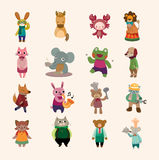 Reeks van dierlijk pictogram Royalty-vrije Stock Foto