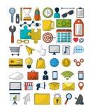 Reeks van digitale marketing stock illustratie