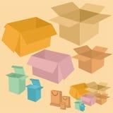 Reeks van doos Stock Afbeelding