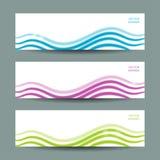 Reeks van drie abstracte banners Royalty-vrije Stock Afbeelding