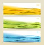 Reeks van drie abstracte banners Royalty-vrije Stock Fotografie
