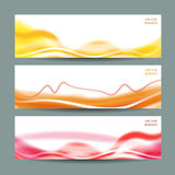 Reeks van drie abstracte banners Royalty-vrije Stock Afbeeldingen