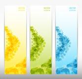 Reeks van drie abstracte banners Royalty-vrije Stock Foto