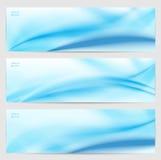 Reeks van drie abstracte banners. Royalty-vrije Stock Afbeelding