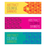 Reeks van drie abstracte banners Stock Afbeelding