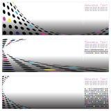 Reeks van Drie Malplaatje Van uitstekende kwaliteit Abstracte Backgr Stock Afbeelding