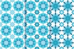 Reeks van drie naadloze patronen met sterren in ??n stijl Zwart-wit illustratie, eps10 royalty-vrije illustratie
