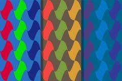 Reeks van drie naadloze patronen met verticaal geschikte abstracte elementen in één stijl Kleurrijke illustratie, eps10 royalty-vrije illustratie