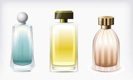 De geïsoleerde, vector van het parfum flessen Royalty-vrije Stock Afbeeldingen