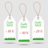 Reeks van drie Pasen-prijsstickers Stock Afbeelding