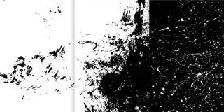 Reeks van drie zwart-witte hand getrokken texturen voor uw ontwerp royalty-vrije illustratie