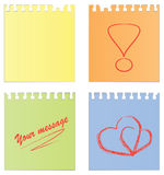Reeks van een leeg document en een document met nota's Royalty-vrije Stock Fotografie