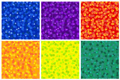 Reeks van eenvoudig naadloos patroon als achtergrond met punten Royalty-vrije Stock Fotografie