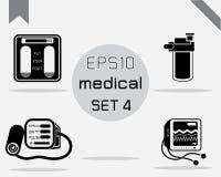 Reeks van 4 Eenvoudige medisch Royalty-vrije Stock Afbeelding
