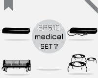 Reeks van 4 Eenvoudige medisch Stock Foto's