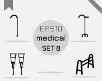 Reeks van 4 Eenvoudige medisch Royalty-vrije Stock Fotografie