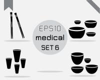Reeks van 4 Eenvoudige medisch Stock Afbeeldingen