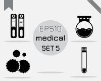 Reeks van 4 Eenvoudige medisch Stock Afbeelding