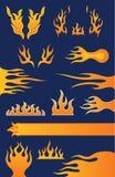 Reeks van 13 Elementen van het Vlamontwerp Royalty-vrije Stock Afbeelding
