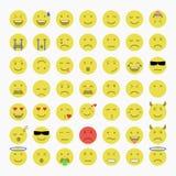 Reeks van Emoji, Avatar en Emoticons Royalty-vrije Stock Foto's