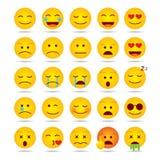 Reeks van Emoji-malplaatje Stock Afbeelding