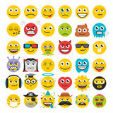 Reeks van emoticonsvector stock illustratie