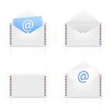 Reeks van envelop e-mail Stock Afbeeldingen