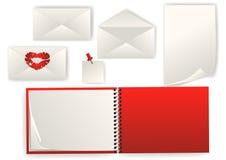 Reeks van envelop en document royalty-vrije illustratie