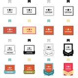 Reeks van etiketontwerp 4 stijlen Royalty-vrije Stock Afbeeldingen