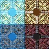 Reeks van Etnisch Baltisch ornamentpatroon in verschillende kleuren Vector illustratie Royalty-vrije Stock Foto's