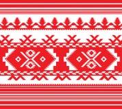 Reeks van Etnisch ornamentpatroon in rode kleur Stock Foto's
