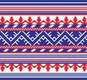 Reeks van Etnisch ornamentpatroon in verschillende kleuren Stock Fotografie