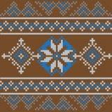 Reeks van Etnisch ornamentpatroon in verschillende kleuren Vector illustratie Stock Afbeeldingen