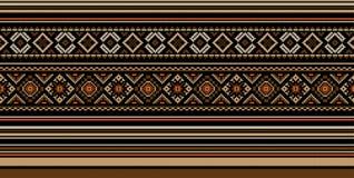 Reeks van Etnisch ornamentpatroon in verschillende kleuren Vector illustratie royalty-vrije stock afbeeldingen